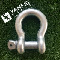 China Qingdao Yanfei Rigging -Rigging Hardware-1/4 5/16 Electric galvanized G209 Bow Type Shackle wholesale
