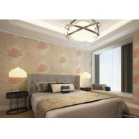 China Waterproof Apricot Rustic Style House Decoration Wallpaper with Floral Pattern wholesale