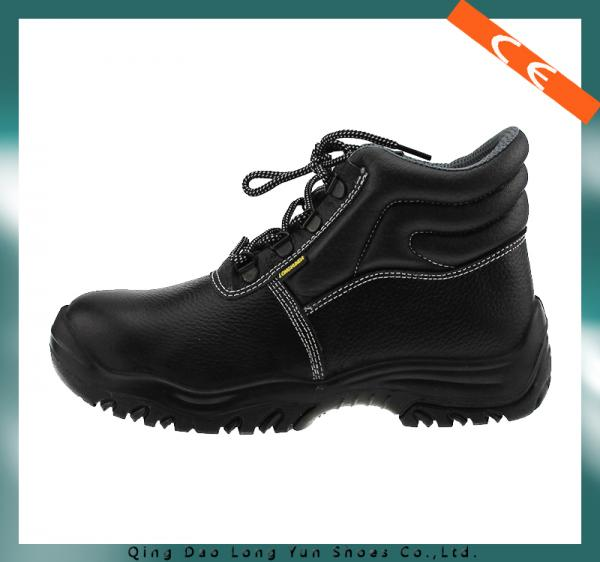 Quality Ce Certification Black Steel Toe Safety Shoes for sale