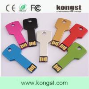 China Kongst Custom Logo Print Key Shape USB Flash Drive Memory from 1GB-32GB wholesale