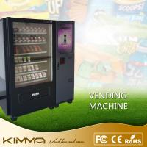 Buy cheap Автомат зала ожидания экрана касания распределяет холодные напитки соды закуски эксплуатируемыми счетом и монеткой from wholesalers