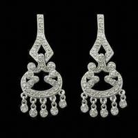 China Fashionable 925 Sterling Silver Chandelier Earrings with Gold Plating wholesale