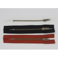 China 5# Wide Tape Black 6 Inch Separating Zipper , Red / Black / White High End Zippers wholesale