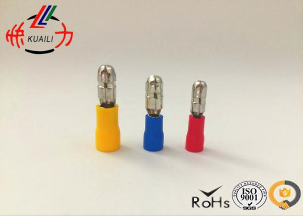 Quality Male Vinyl Insulated Wire Terminals / Insulated Bullet Connectors for sale