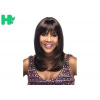 China Celebrity Synthetic Hair Wig Long Natural Straight Full Snood Wig For Women wholesale