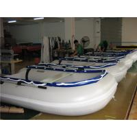 China 14.1 Ft Small Inflatable Boat With Motor , Dive Inflatable Power Boat Abrasion Proof wholesale