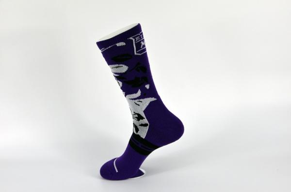 Quality Mens Knee High Black Athletic Basketball Socks Dry Sweat Absorbent Material Filled for sale
