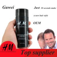 China Guwee Number 1 anti hair loss product hair extension Refill hair fibers 9 color for choose wholesale