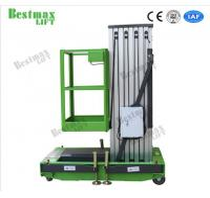China Portable Aluminum Aerial Work Platform Single Mast Man Lift 8 Meters Lifting Height on sale