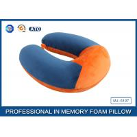 China Soft Ergonomic Shapeed Memory Foam Neck Cushion Traveling Pillow wholesale