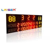 Buy cheap Outside UV Protection 12 / 20 Inch LED Electronic Baseball Scoreboard in Yellow Color from wholesalers