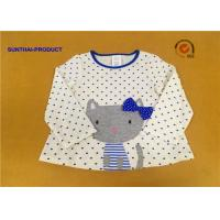 China 100% Cotton Baby Long Sleeve Tops , Kids Plain T Shirts For Fall / Winter wholesale
