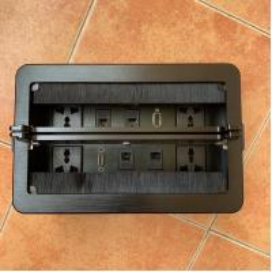China Multi - Function Power Data Integration Socket / Desktop Flip Data Junction Box wholesale