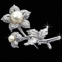 China Fine Quality Brooches, 2012 Newest Design, Silver Brooches wholesale
