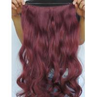 "China Tangle Free Natural Synthetic Colored Hair Extensions Clip In with 16"" wholesale"