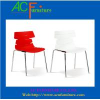 China Chrome leg red PP leisure dining chair- 8011 on sale