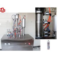 China Refrigerant 134a Car Gas Filling Machine , Aerosol Spray Filling Machine on sale