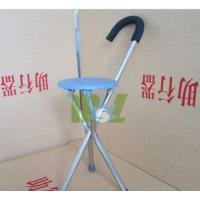 China Aluminum folding cane with seat | Crutch stool - MSLAC03 on sale