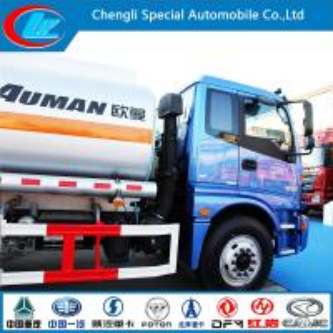 China Euro III 2 Axle Aluminum Fuel Tank Truck of 15cbm Capacity wholesale