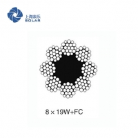 China 8x19W+FC Elevator Glavanized Carbon Steel Wire Rope For Derricking on sale