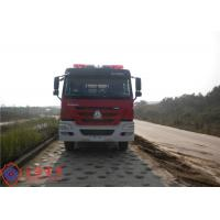 6x4 Drive Type Fire Fighting Truck Red Painting With 100W Alarm Control System