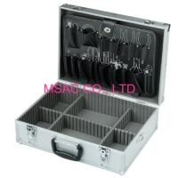 China Plastic Handle Aluminum Hand Tool Boxes With Strap , Silver ABS Tool Case on sale