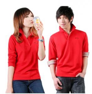 EXPORT CUSTOM LOGO lovers long sleeve polyster T SHIRT 100%COTTON T-shirt