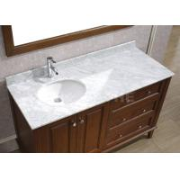 China Galaxy White Bathroom Vanity Countertops With Sink Marble Left Side Sink Vanity for sale