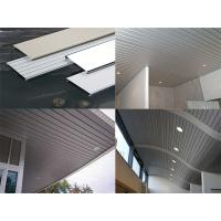China Eco-Friendly Fireproof Suspended Metal Strip Ceiling Panel With 0.5-1.2mm Thickness wholesale
