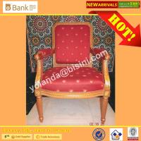 China (BK0109-0013C) Luxury Royal Palace Red Dining Chairs, Noble European Classic Marquetry  Round  Dining Room Furniture Set wholesale