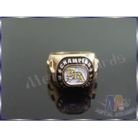 China Gold Metal Color Die Casting Zinc Alloy Ring For Championship None Attachment wholesale