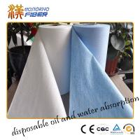 China Baby Wipes Jumbo Roll Non Woven Synthetic Fabrics , Breathable Waterproof Nonwoven Fabric wholesale