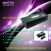 China Auto-detection 120W AC Universal Notebook  Adapter with LCD Show, 8 Output Pins ALU-120A3E wholesale