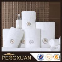 China Hotel white hand towels 21s/2 embroidery and jacquard towels for sale with 100% cotton PXFT1 wholesale