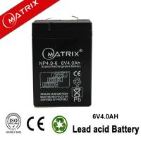 China MATRIX 6v 4ah sealed lead acid battery on sale