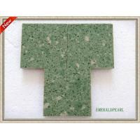 China emeraldpearl Quartz  kitchen surface on sale