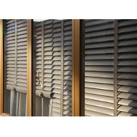 China Powder Coating Glass Louvre Windows , Optional Color Exterior Window Shutters wholesale