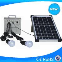 China Hot selling 10w mini solar home lighting system, lighting solar kits with phone charger wholesale