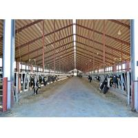 China Steel Structure Rotary Milking Parlor / Livestock Shelter Kits Bolts Connection wholesale