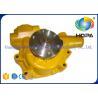 China PC60 PC70 Excavator Hydraulic Parts , Yellow Water Pump 6206-61-1102 6206-61-1103 wholesale