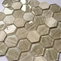 China Glass Mosaic Wall Tiles Interior Decoration Bathroom Hexagon And Square Tile on sale