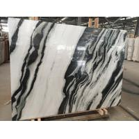China Black Vein Natural Marble Tile For Wall / Water Jet Design Grade A Quality on sale