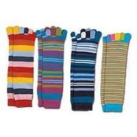 China Funky sweety girl's Soft permeable warm Polyester five finger running socks for kids wholesale