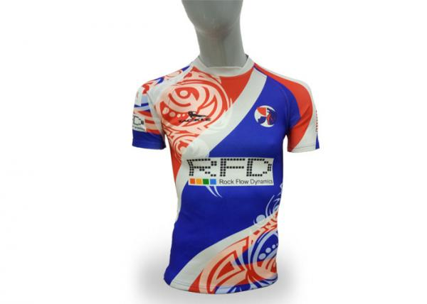 Quality Tackle Brand Rugby Union Jerseys Short Sleeve Adult Sizes Custom Pattern / Logo for sale