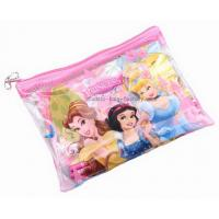 China Colourful Plastic Zipper Bags Cartoon Printed PVC Vinyl For Pupil Stationery on sale