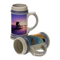 China 22oz sublimation ceramic beer mugs wholesale