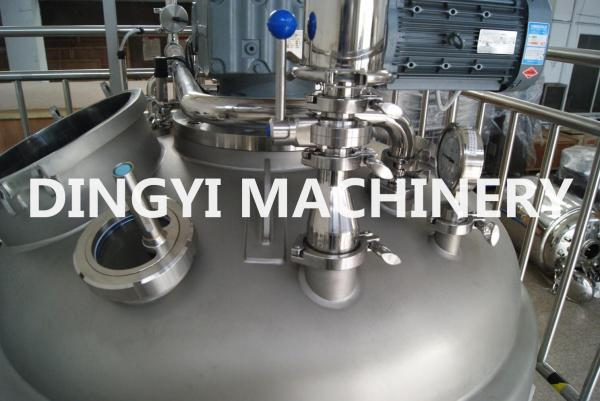 Quality Mechanical Seal Industrial Homogenizer Equipment With Oil Type Vacuum Pump for sale