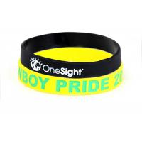 China Personalized Sports Silicone Wristbands For Office , Party Non Toxic wholesale