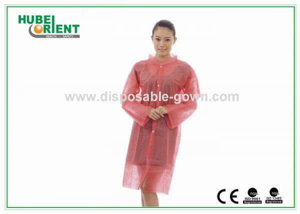 Quality Customized Red PP Fire Resistant Disposable Smocks S - 6XL Size for sale