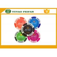China Wheat Crown 13.5 G Casino Monte Carlo Clay Poker Chips With Two Side Stickers wholesale